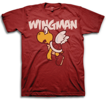 Super Mario Bros Flying Turtle Koopa Wingman T-Shirt