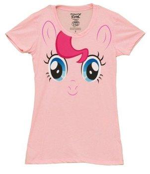 Adult Men/'s My Little Pony Pinkie Pie Portals Peek A Boo Black T-Shirt Tee